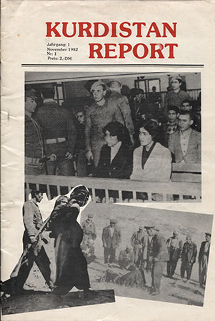 Erstausgabe des Kurdistan Report November 1982